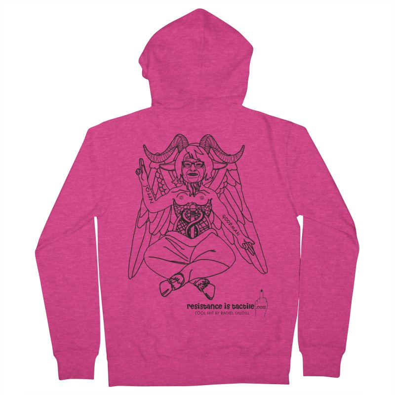 Roseannomet - Light Side Women's French Terry Zip-Up Hoody by Resistance is Tactile