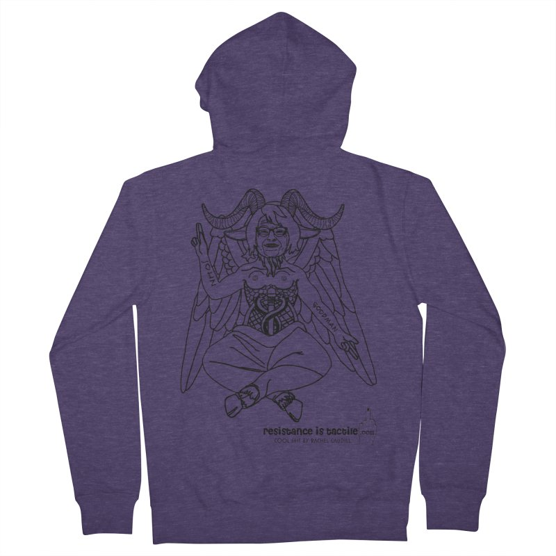Roseannomet - Light Side Men's French Terry Zip-Up Hoody by Resistance is Tactile