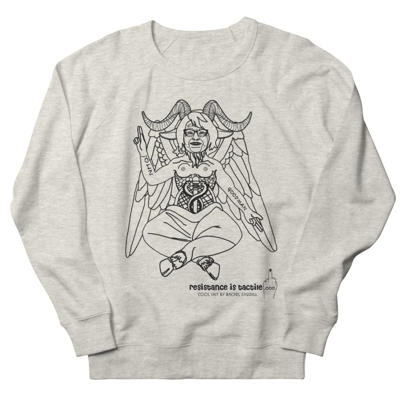 Roseannomet - Light Side Women's French Terry Sweatshirt by Resistance is Tactile