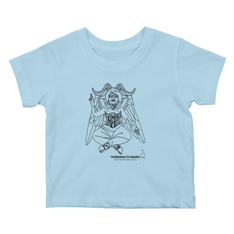 Roseannomet - Light Side Kids Baby T-Shirt by Resistance is Tactile