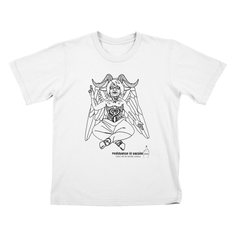 Roseannomet - Light Side Kids T-Shirt by Resistance is Tactile
