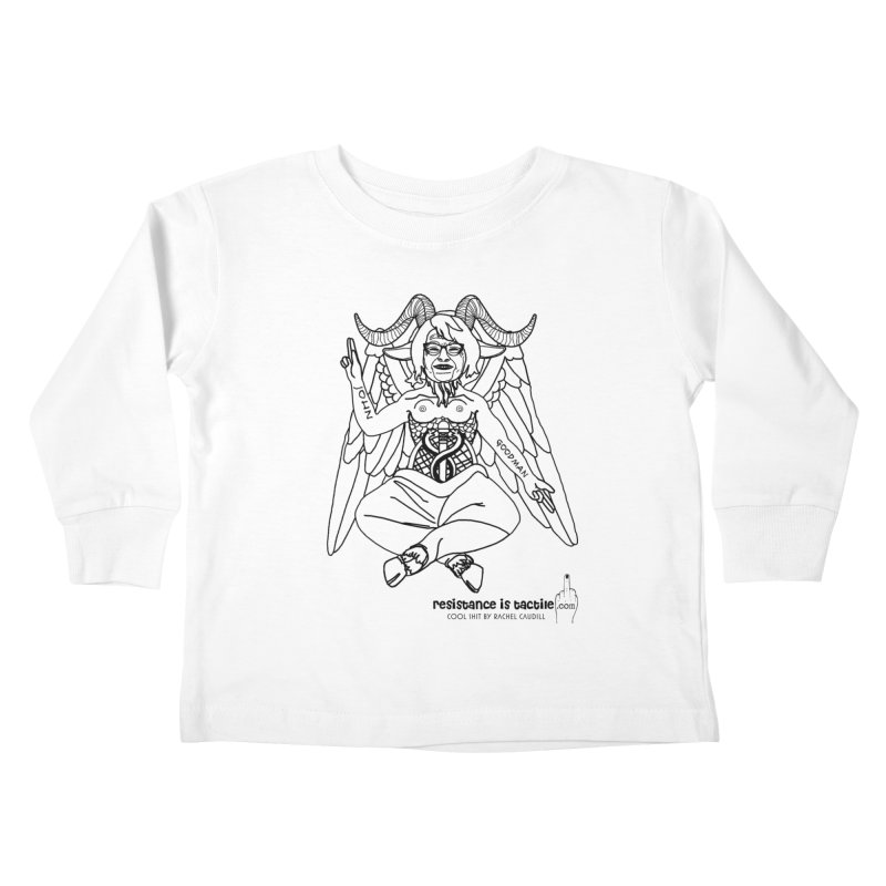 Roseannomet - Light Side Kids Toddler Longsleeve T-Shirt by Resistance is Tactile