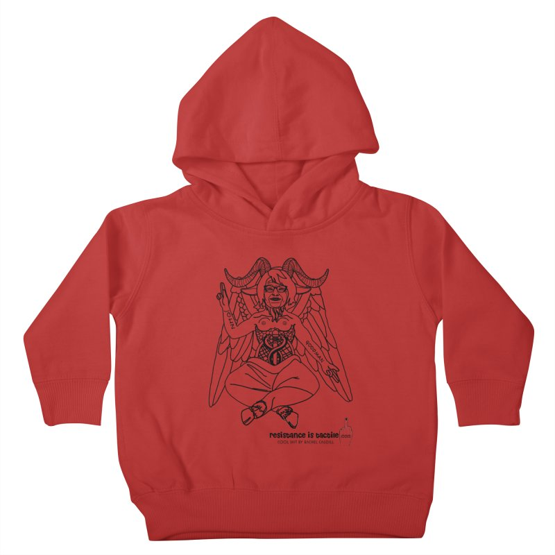 Roseannomet - Light Side Kids Toddler Pullover Hoody by Resistance is Tactile