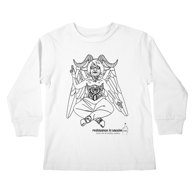 Roseannomet - Light Side Kids Longsleeve T-Shirt by Resistance is Tactile