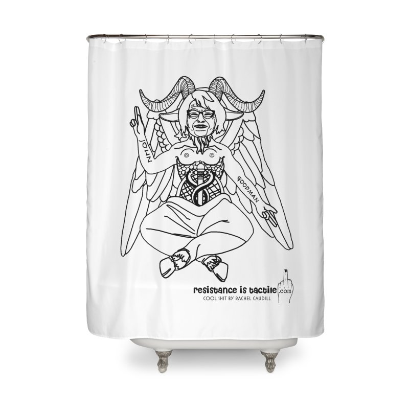 Roseannomet - Light Side Home Shower Curtain by Resistance is Tactile