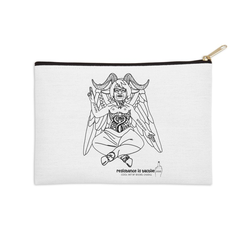 Roseannomet - Light Side Accessories Zip Pouch by Resistance is Tactile
