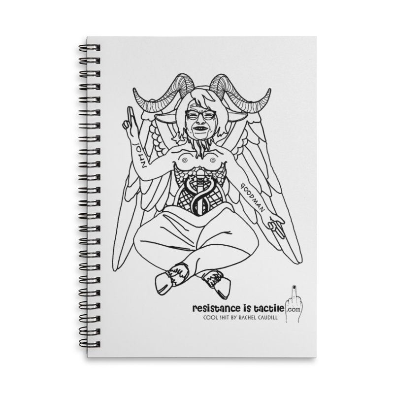 Roseannomet - Light Side Accessories Lined Spiral Notebook by Resistance is Tactile