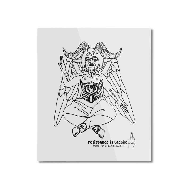 Roseannomet - Light Side Home Mounted Aluminum Print by Resistance is Tactile