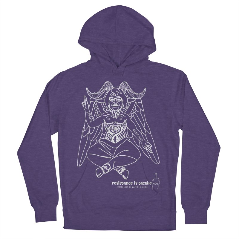 Roseannomet - Dark Side Men's French Terry Pullover Hoody by Resistance is Tactile