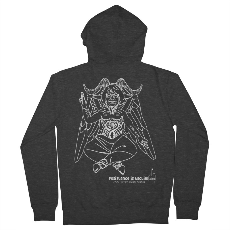 Roseannomet - Dark Side Men's French Terry Zip-Up Hoody by Resistance is Tactile