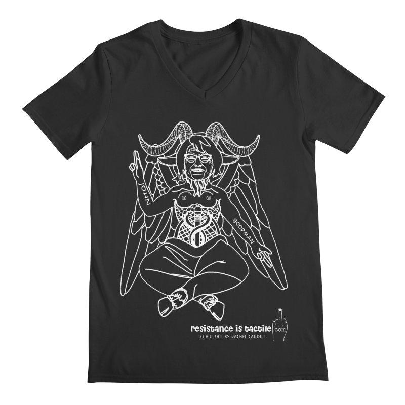 Roseannomet - Dark Side Men's Regular V-Neck by Resistance is Tactile
