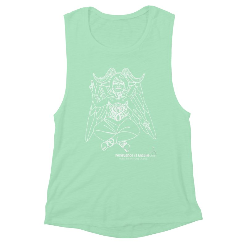 Roseannomet - Dark Side Women's Muscle Tank by Resistance is Tactile