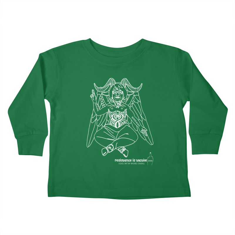 Roseannomet - Dark Side Kids Toddler Longsleeve T-Shirt by Resistance is Tactile