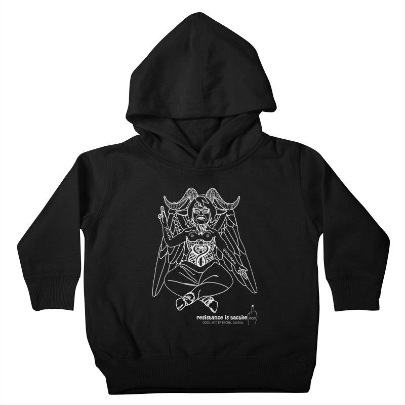 Roseannomet - Dark Side Kids Toddler Pullover Hoody by Resistance is Tactile