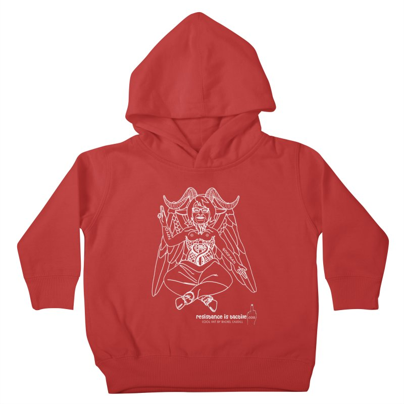Roseannomet - Dark Side Kids Toddler Pullover Hoody by Resistance is Tactile