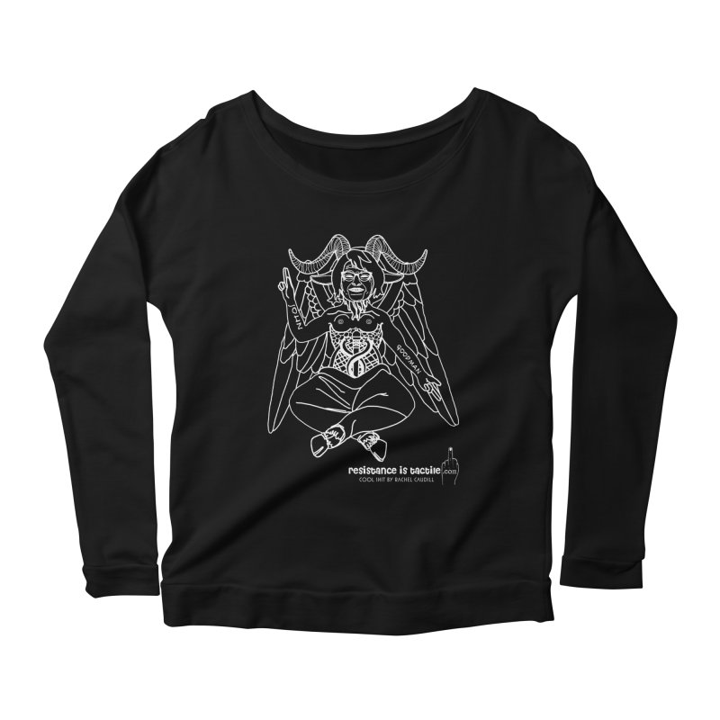 Roseannomet - Dark Side Women's Scoop Neck Longsleeve T-Shirt by Resistance is Tactile