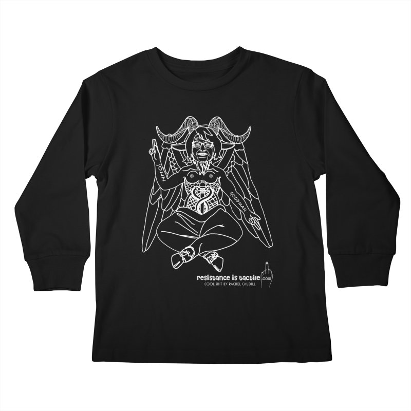 Roseannomet - Dark Side Kids Longsleeve T-Shirt by Resistance is Tactile