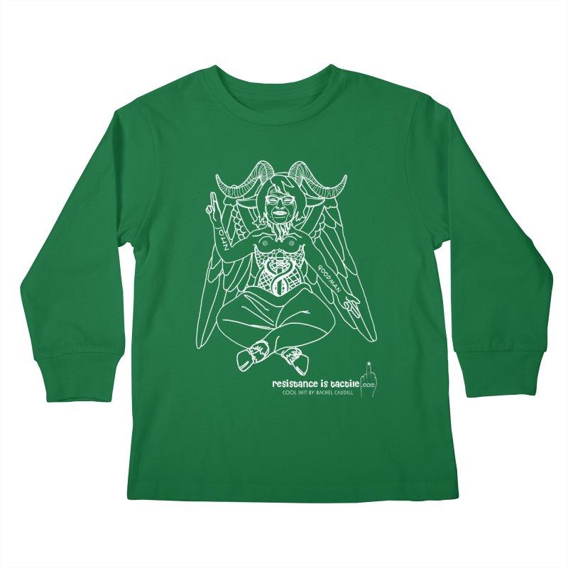 Roseannomet - Dark Side Kids Longsleeve T-Shirt by Resistance is Tactile