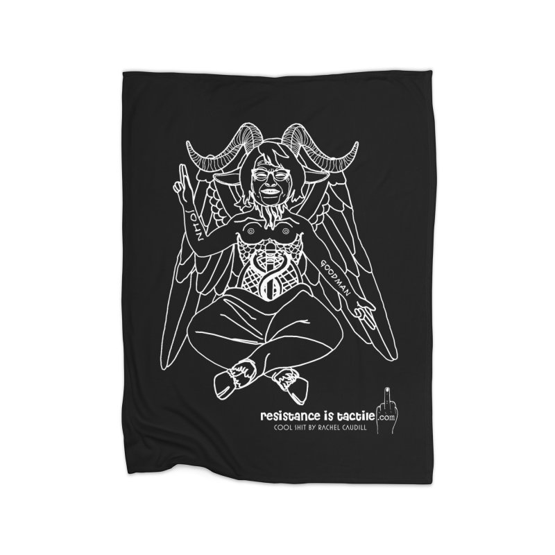 Roseannomet - Dark Side Home Blanket by Resistance is Tactile