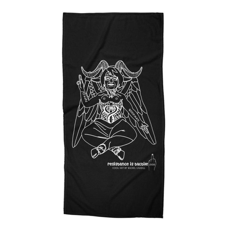 Roseannomet - Dark Side Accessories Beach Towel by Resistance is Tactile