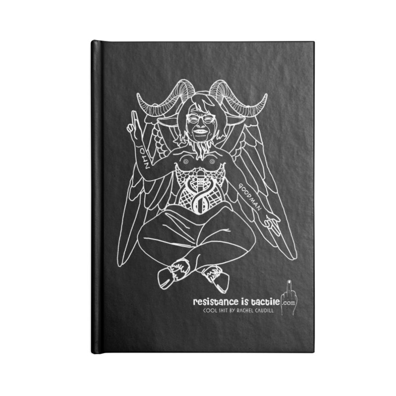 Roseannomet - Dark Side Accessories Lined Journal Notebook by Resistance is Tactile