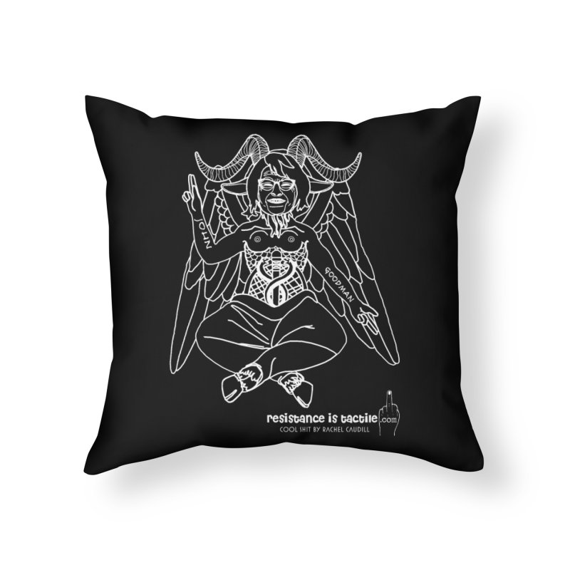 Roseannomet - Dark Side Home Throw Pillow by Resistance is Tactile