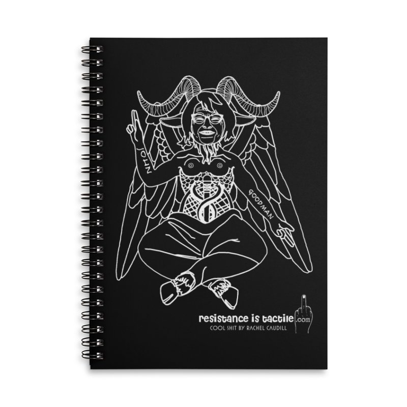 Roseannomet - Dark Side Accessories Lined Spiral Notebook by Resistance is Tactile