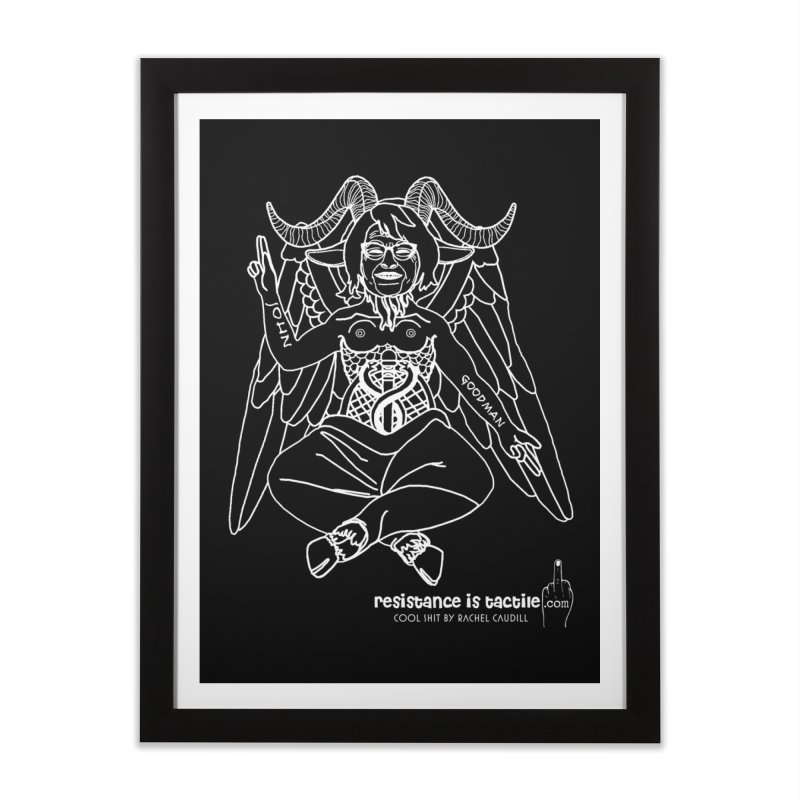 Roseannomet - Dark Side Home Framed Fine Art Print by Resistance is Tactile