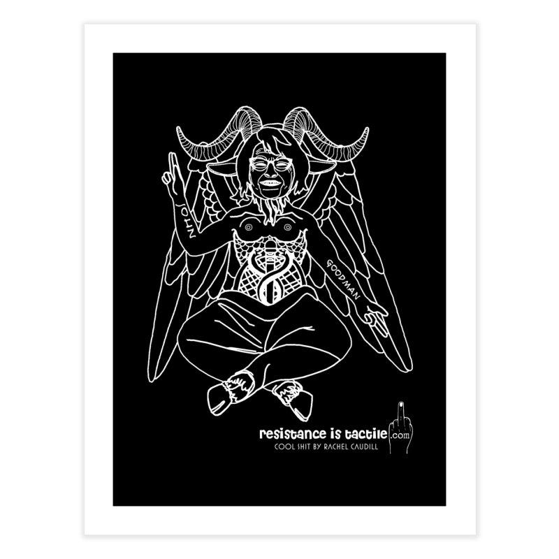 Roseannomet - Dark Side Home Fine Art Print by Resistance is Tactile