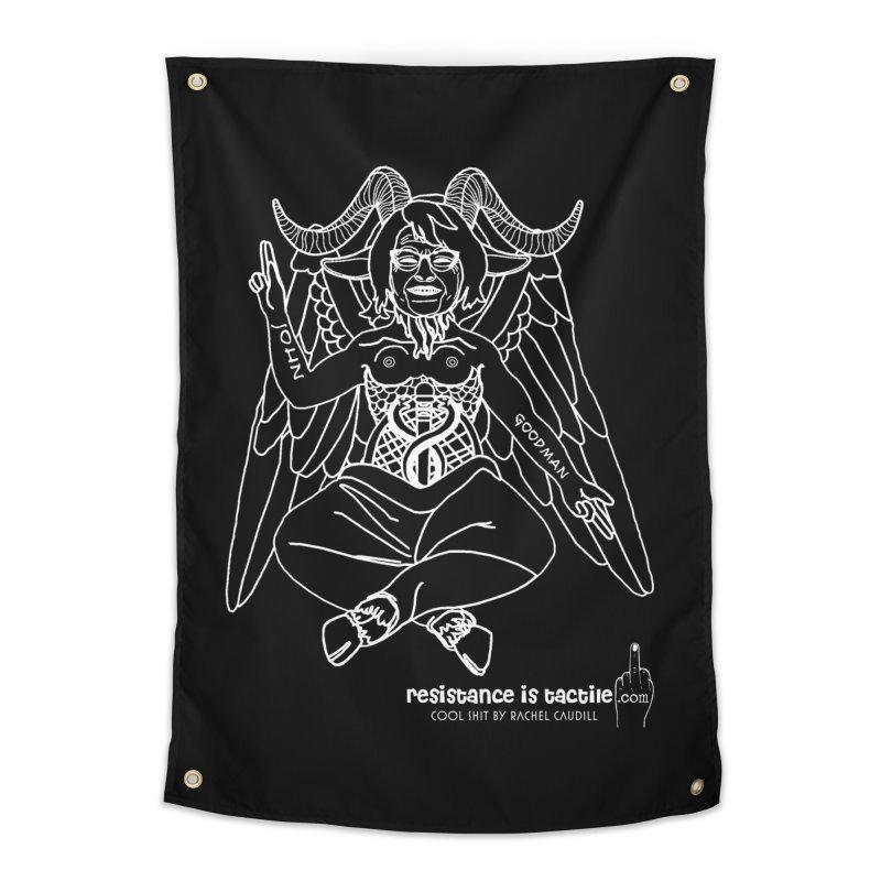 Roseannomet - Dark Side Home Tapestry by Resistance is Tactile