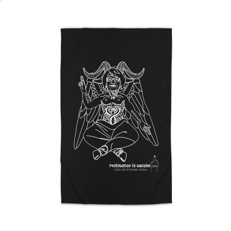 Roseannomet - Dark Side Home Rug by Resistance is Tactile