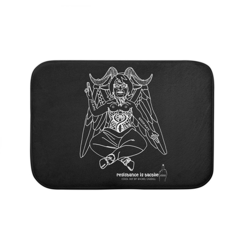 Roseannomet - Dark Side Home Bath Mat by Resistance is Tactile