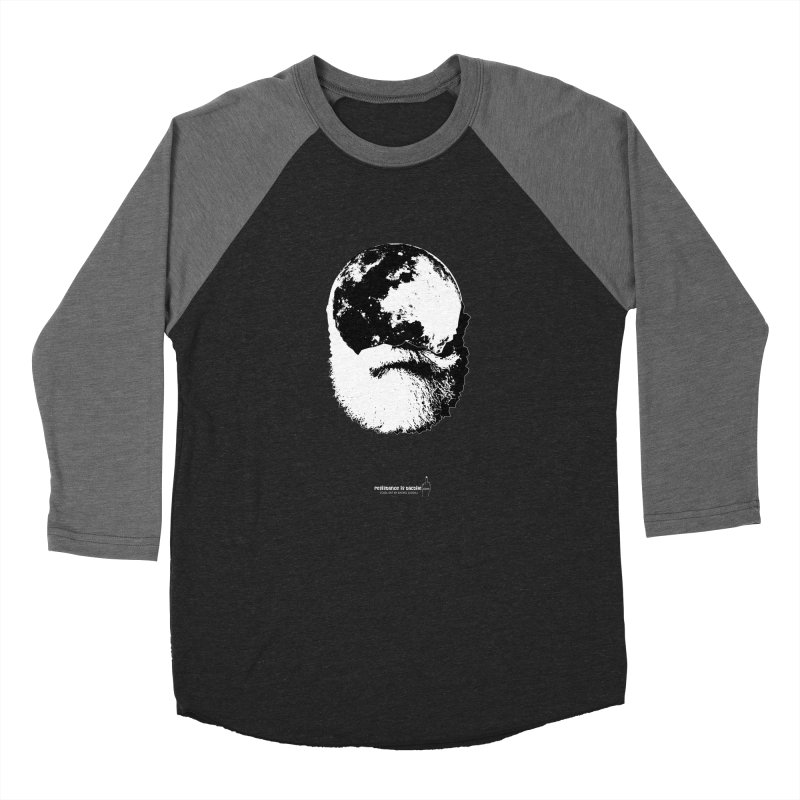 Moon Daddy Women's Baseball Triblend Longsleeve T-Shirt by Resistance is Tactile