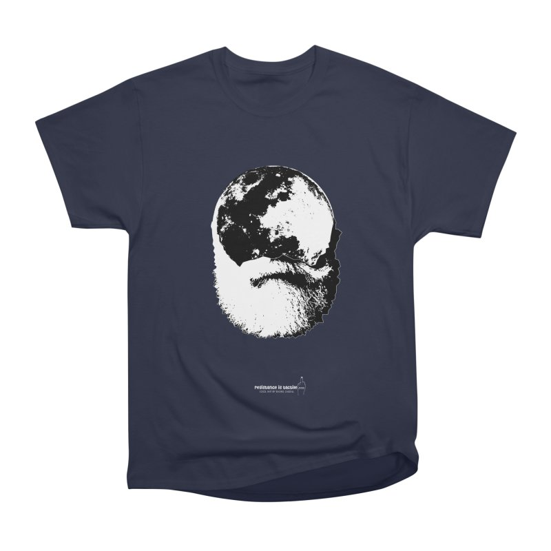 Moon Daddy Women's Heavyweight Unisex T-Shirt by Resistance is Tactile
