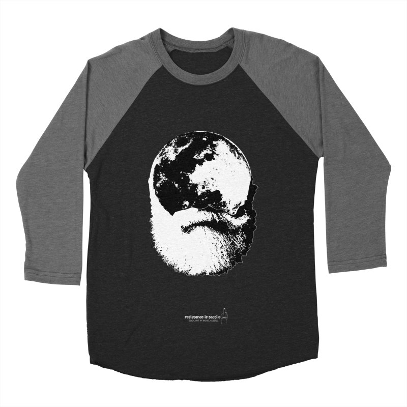 Moon Daddy Men's Baseball Triblend Longsleeve T-Shirt by Resistance is Tactile
