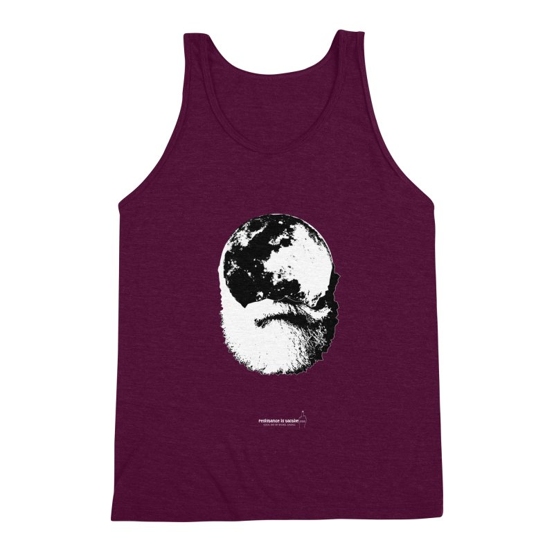 Moon Daddy Men's Triblend Tank by Resistance is Tactile