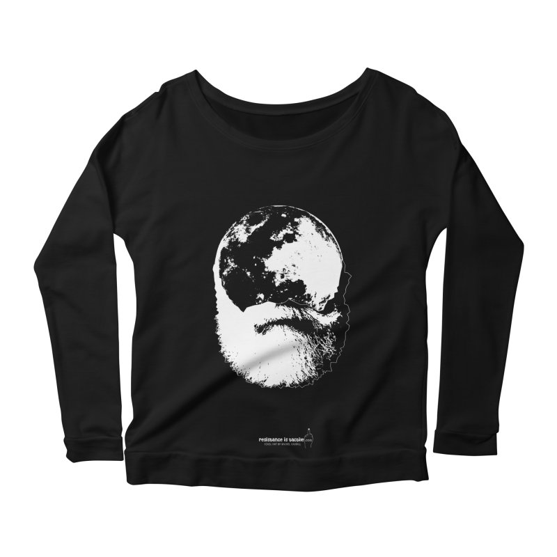 Moon Daddy Women's Scoop Neck Longsleeve T-Shirt by Resistance is Tactile