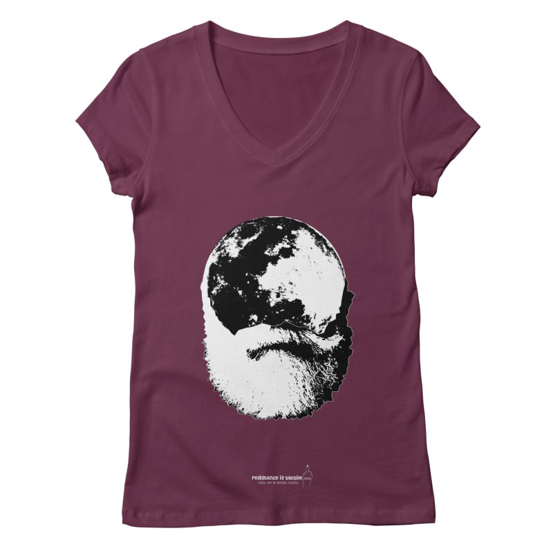 Moon Daddy Women's Regular V-Neck by Resistance is Tactile