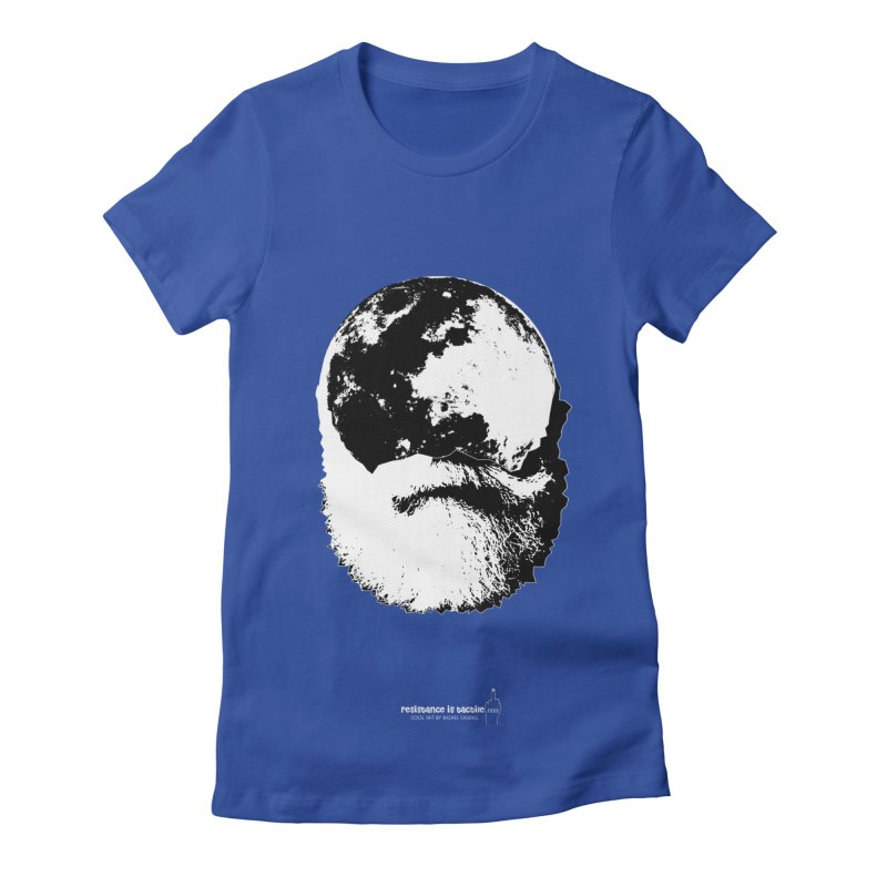 Moon Daddy Women's Fitted T-Shirt by Resistance is Tactile