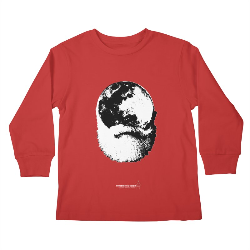 Moon Daddy Kids Longsleeve T-Shirt by Resistance is Tactile