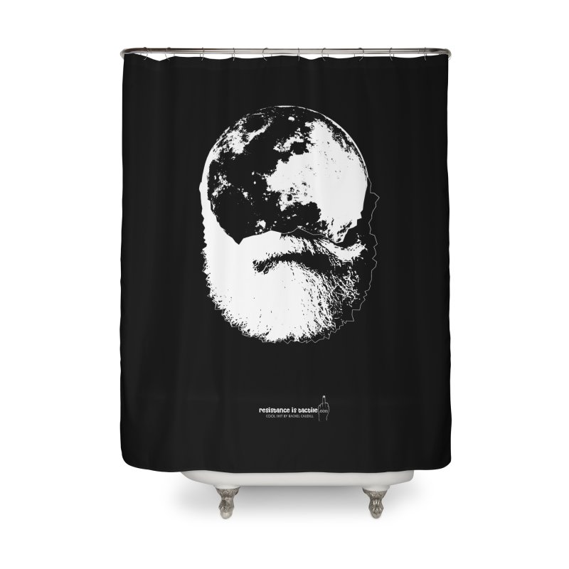 Moon Daddy Home Shower Curtain by Resistance is Tactile