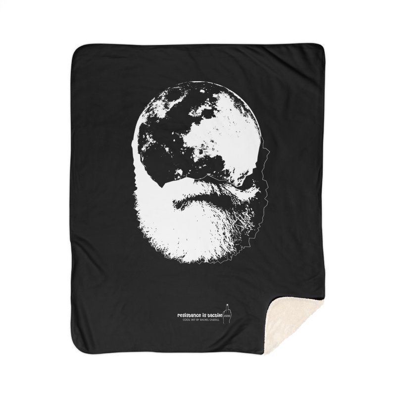 Moon Daddy Home Sherpa Blanket Blanket by Resistance is Tactile