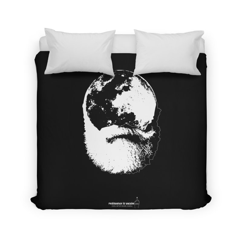 Moon Daddy Home Duvet by Resistance is Tactile