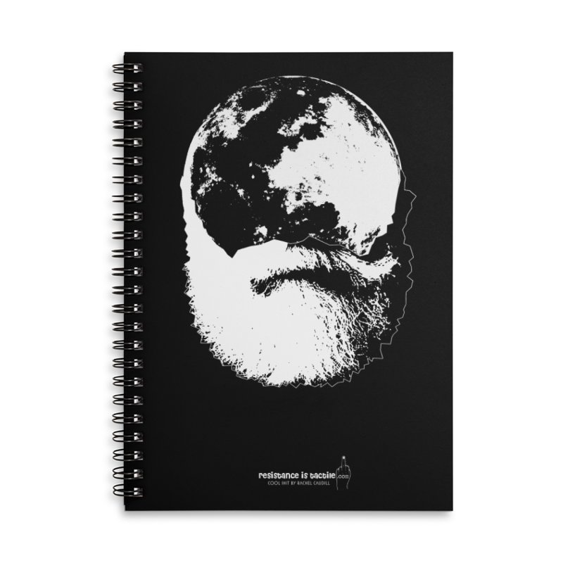 Moon Daddy Accessories Lined Spiral Notebook by Resistance is Tactile