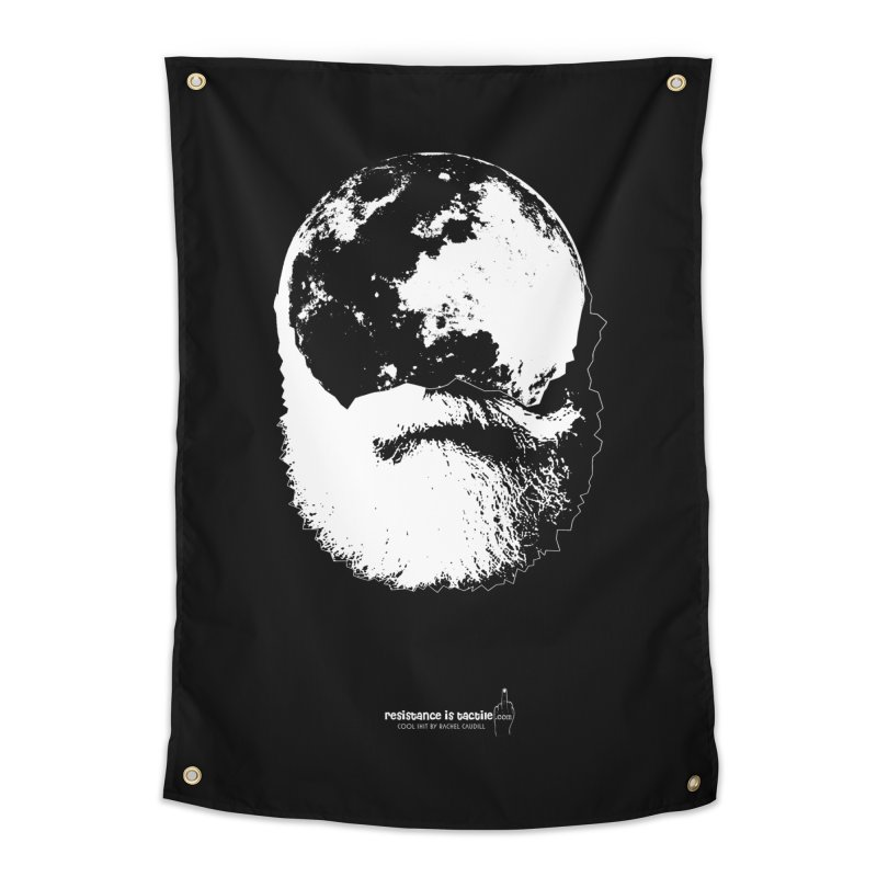 Moon Daddy Home Tapestry by Resistance is Tactile