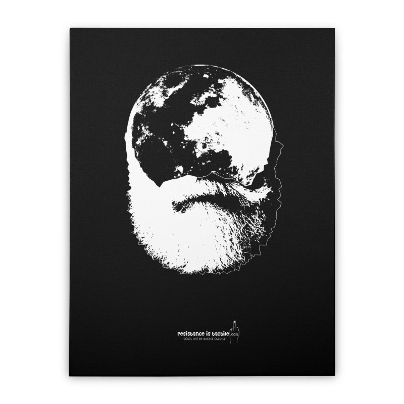 Moon Daddy Home Stretched Canvas by Resistance is Tactile