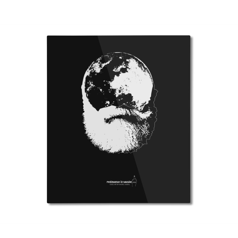 Moon Daddy Home Mounted Aluminum Print by Resistance is Tactile