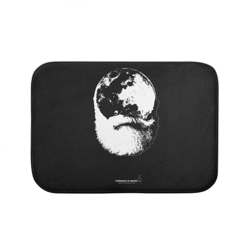 Moon Daddy Home Bath Mat by Resistance is Tactile
