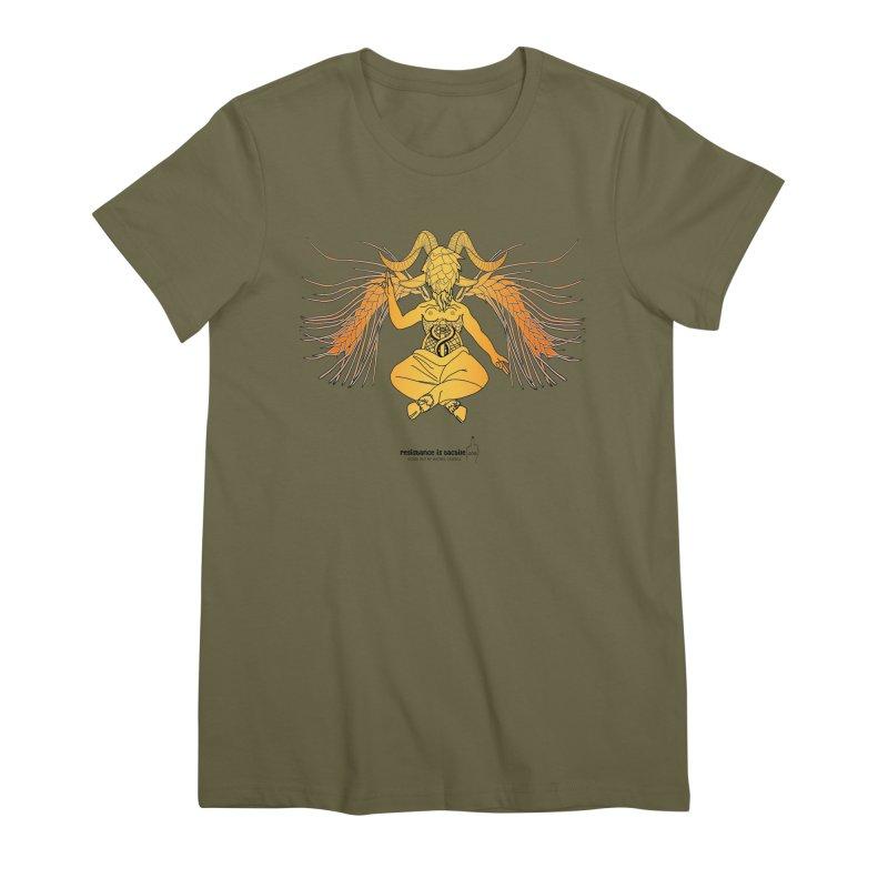 Beerphomet Women's Premium T-Shirt by Resistance is Tactile