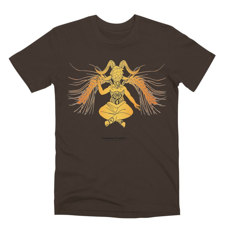 Beerphomet Men's Premium T-Shirt by Resistance is Tactile